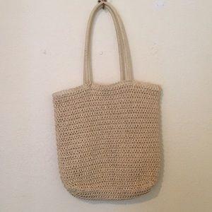 Straw shoulder bag tote